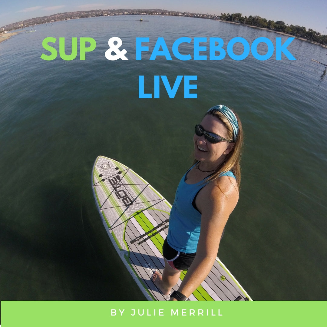 How to do Facebook LIVE video while standup paddleboarding. Equipment and how to setup.
