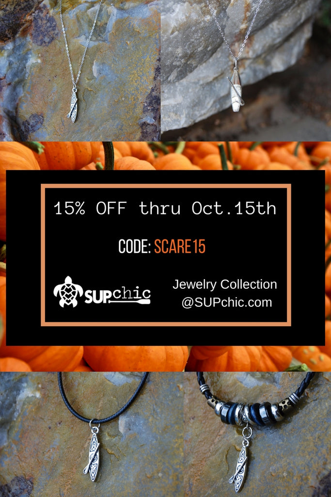 COUPON: October SCARE 15 - 15% off ALL SUPchic jewelry through October 15th