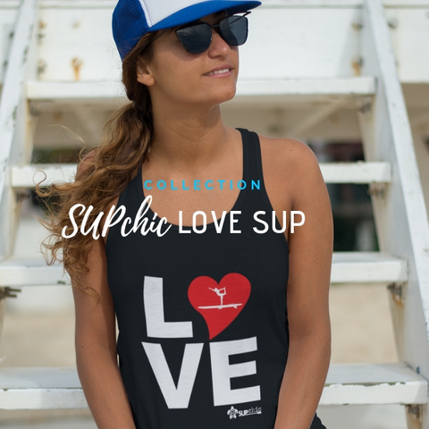 I LOVE SUP stand up paddle board collection of clothing and accessories by SUPchic