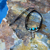 standup paddleboard SUP necklace jewelry two tier black turquoise necklace