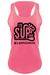 Womens I'd SUP That Pink tank top - stand up paddle board tank top
