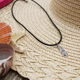 BAJA CHIC - Black Corded Stand Up Paddle Board SUP Necklace Jewelry