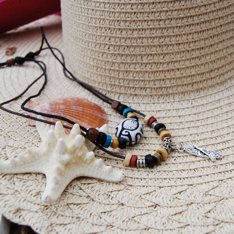 BOHO CHIC - Boho style stand up paddle board SUP two tier adjustable necklace