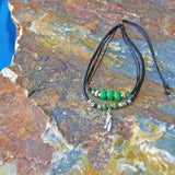 standup paddle board SUP necklace jewelry green emerald bead Surf jewelry