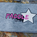 Standup Paddleboard Wide Grey Headband with Bling