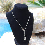 Infinity SUP .925 Sterling Silver Paddle Board Necklace