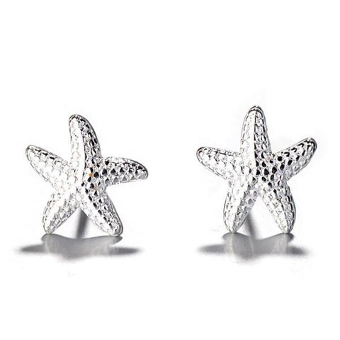 starfish 925 sterling silver stud post earrings