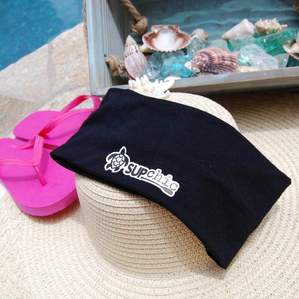 Standup Paddleboard Wide Headbands with SUPchic logo