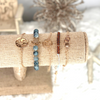 turtle wave bead gold ocean beach bracelet set