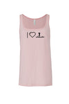 Pink Jersey Women's Tank Top - I Heart Paddleboarding