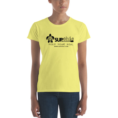 Ladies short sleeve classic cut tee SUPchic logo - IN STOCK