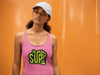 pink ladies racerback tank top id sup that