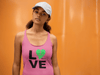 Pink SUPer Soft Triblend Racerback Tank Top - Love SUP Green - IN STOCK