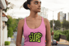 pink ladies racerback tank top id sup that SUPchic