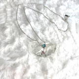 Crystal Tail Mermaid Necklace - 925 Mermaid charm necklace