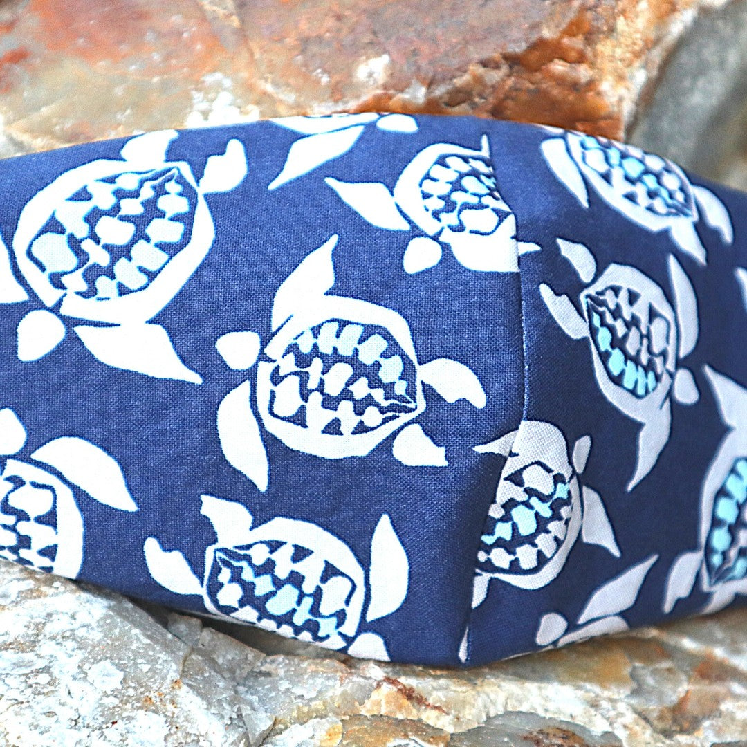hawaiian turtle navy blue mask