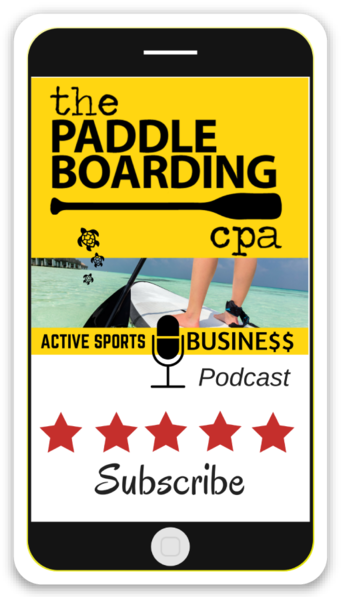 The Paddleboarding CPA podcast sticker
