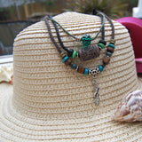Triple Envy Chic - standup paddle board necklace SUP jewelry