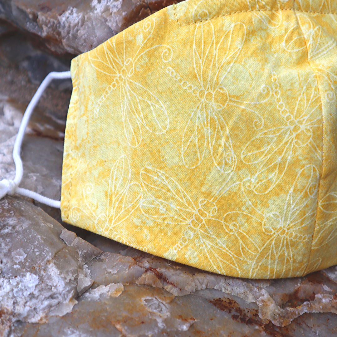 yellow dragonfly mask by SUPchic