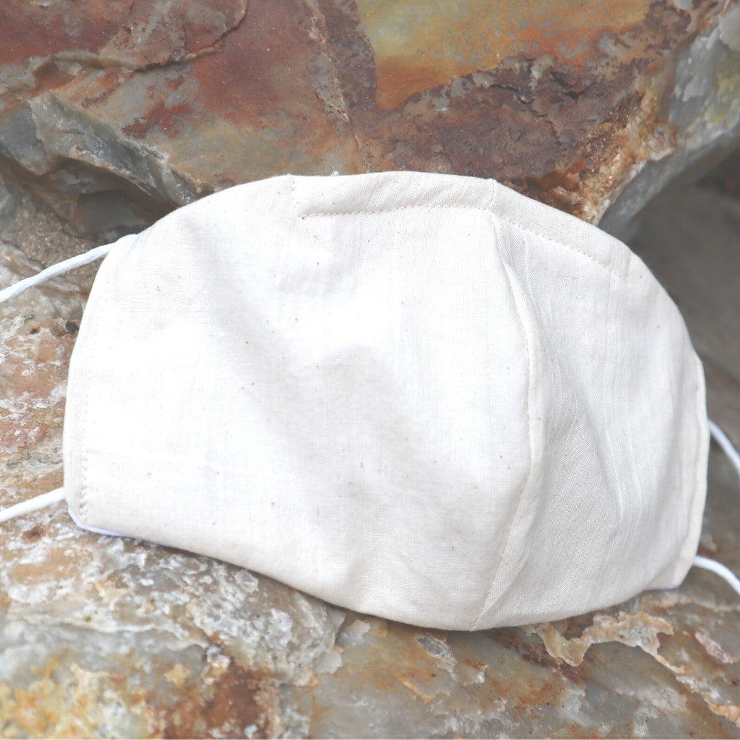 beach linen mask facial covering