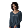 long sleeve stand up paddle ladies soft t shirt vintage navy