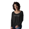 long sleeve stand up paddle ladies soft t shirt vintage black