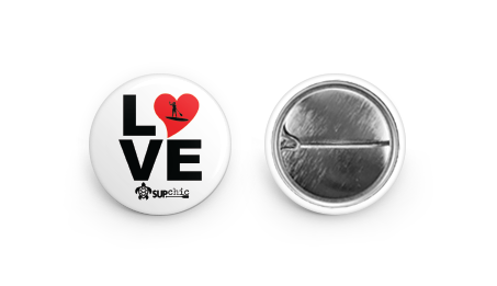 SUPchic LOVE SUP Yoga PIN button