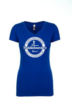 Women's Soft V-Neck - Paddleboarders Do It Standing Up