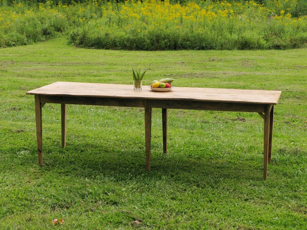stilleto leg barnwood table