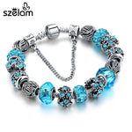 Blue Crystal Beads Bracelet