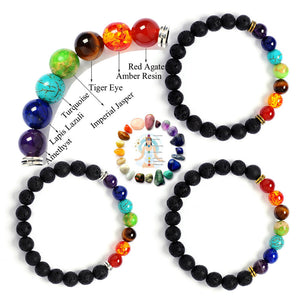 8MM Volcanic stone series Buddha head bracelet