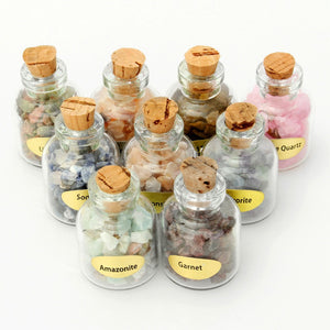 9Pcs/Box Assorted Mini Gemstone Bottles