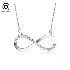 Infinity Pendant Silver Color Necklace