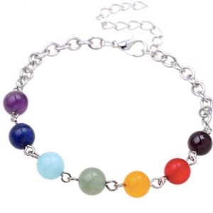 Silver Chakra Healing Bracelet (Free For a Limited Time)