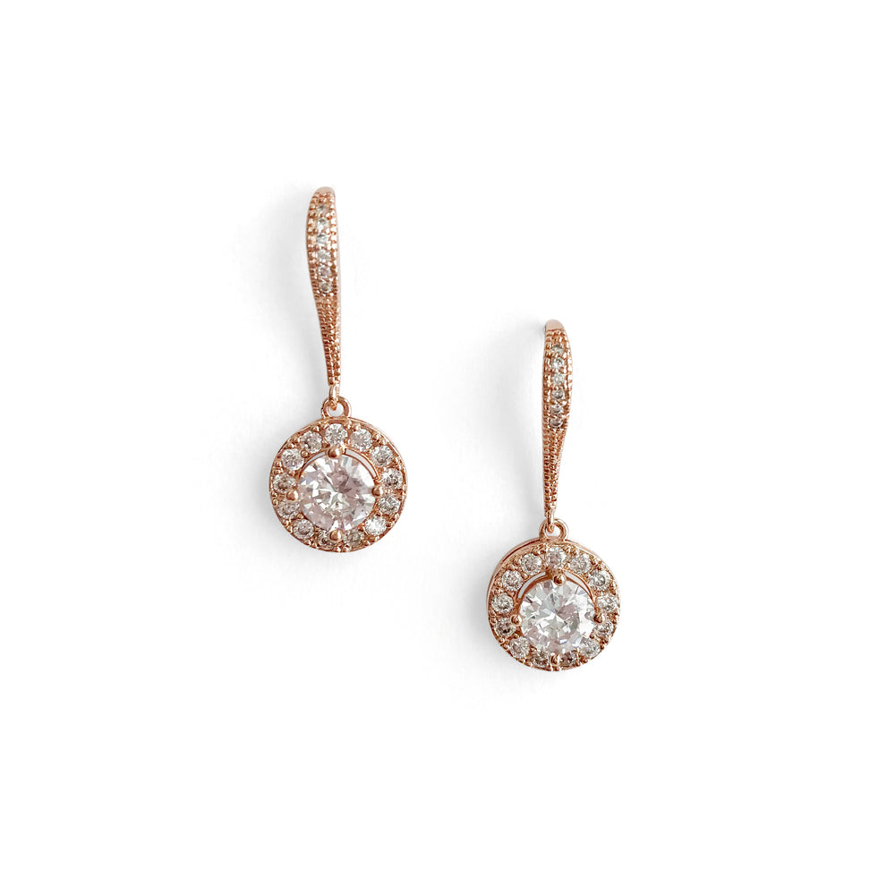 rose gold bridesmaid earrings