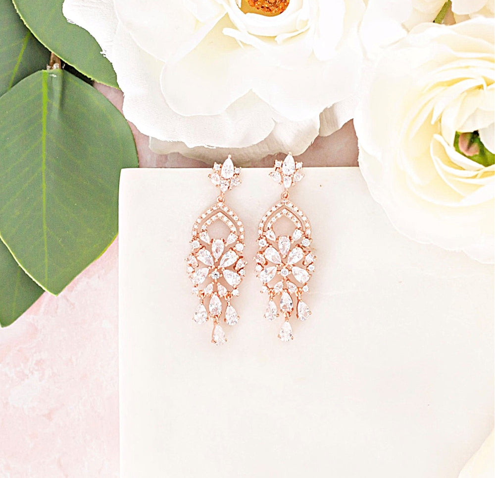 Phoebe Chandelier Wedding Earrings