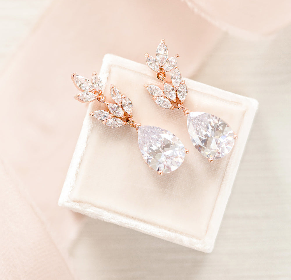 Claudia Leaf Bridal Earrings