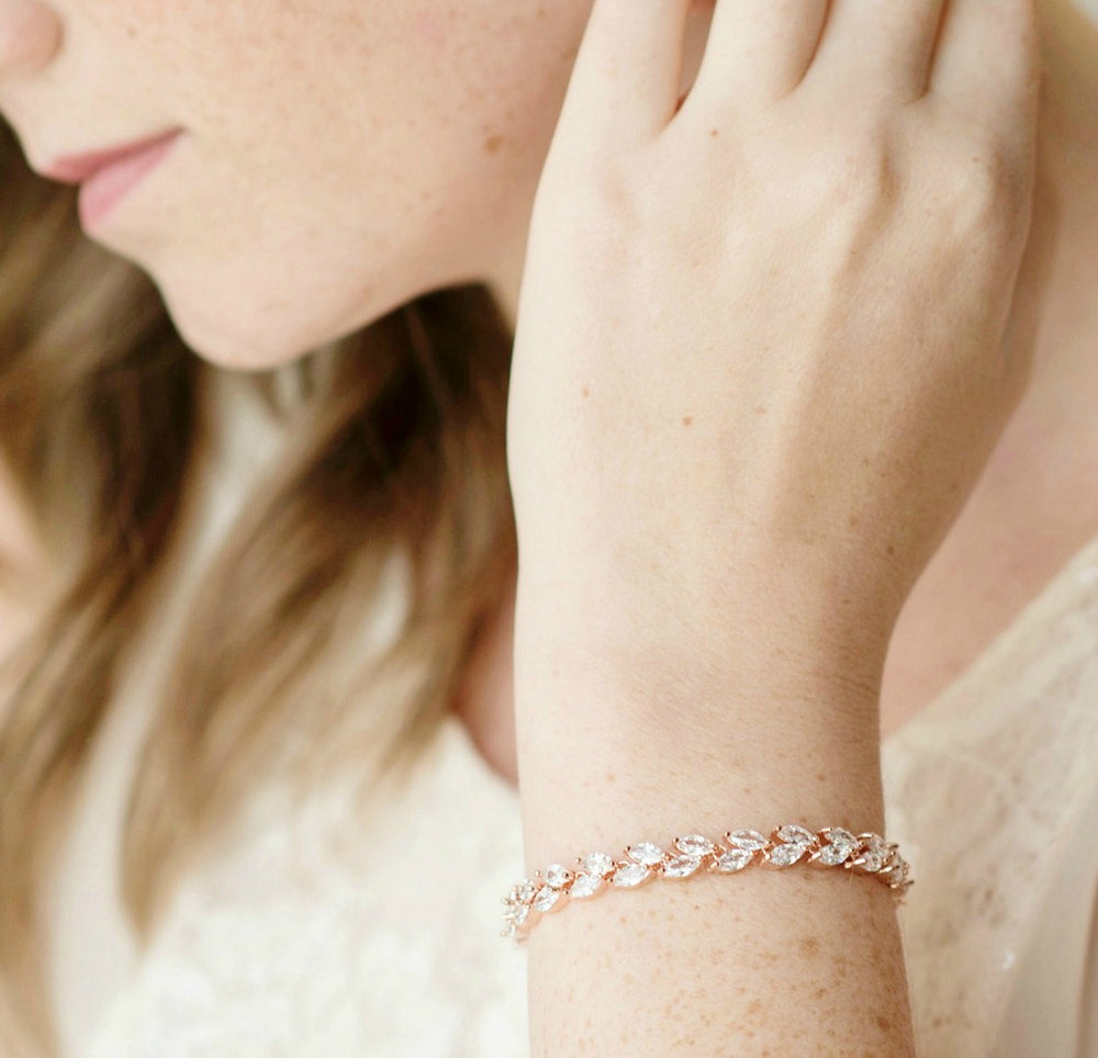 Madelyn Leaf Wedding Bracelet
