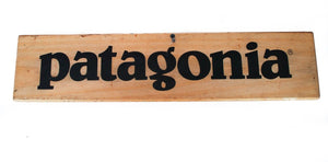 Authentic Wooden Patagonia Sign, Wall Decor, n/a, Colorado Restaurant Consignment
