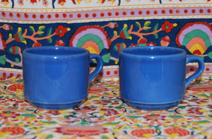 Set of 2 Small Blue Tea Cup/Coffee Cup, Coffee Mugs & Tea Cups, Colorado Restaurant Consignment, Colorado Restaurant Consignment