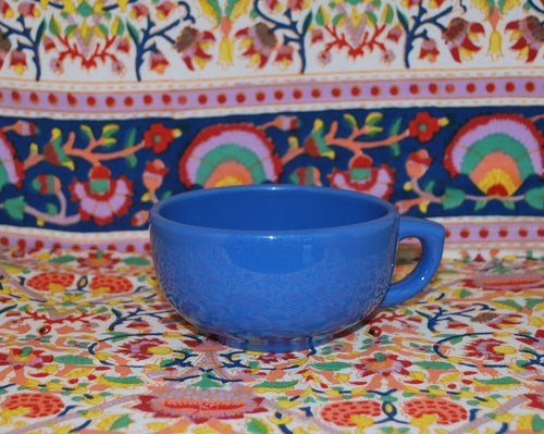 Jumbo Cappuccino Coffee Cup, Blue, Coffee Mugs & Tea Cups, Colorado Restaurant Consignment, Colorado Restaurant Consignment