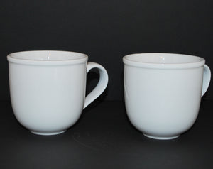 Set of 2 White Coffee Mugs by Crate and Barrel, Coffee Mugs & Tea Cups, Colorado Restaurant Consignment, Colorado Restaurant Consignment