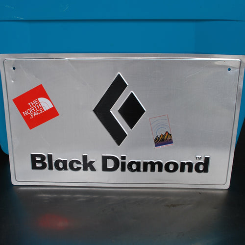 North Face Black Diamond Metal Sign, Wall Decor, The North Face, Colorado Restaurant Consignment