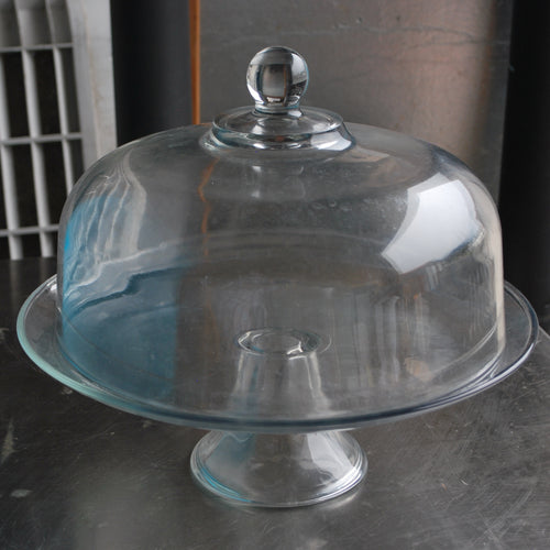Glass Cake Plate Stand with Dome Cover, Tabletop Serving & Display Ware, American Metalcraft, Colorado Restaurant Consignment