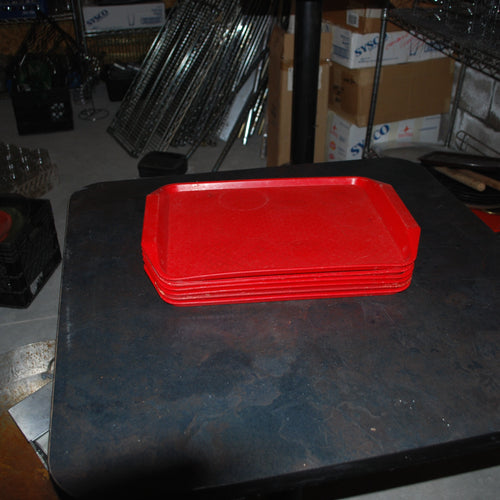 Red Plastic Fast Food Tray, Set of 5, Tray, Colorado Restaurant Consignment, Colorado Restaurant Consignment