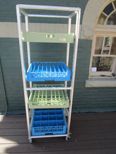 Aluminum Rolling Glassware Rack with 4 Trays, , Colorado Restaurant Consignment, Colorado Restaurant Consignment