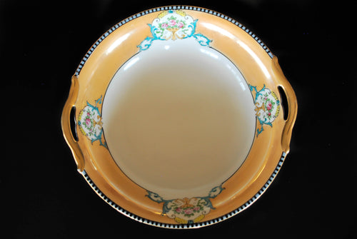 Beautiful Hand-Painted Vintage Noritake Lusterware Bowl, Double Handle, Vintage China, Colorado Restaurant Consignment, Colorado Restaurant Consignment