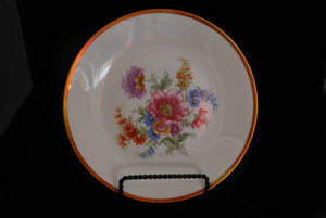 Tirschenreuth Germany Porcelain Flower Plate, Vintage China, Colorado Restaurant Consignment, Colorado Restaurant Consignment