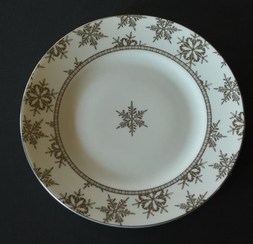 Snowfall Platinum by Wedgwood Salad Accent Plate, , Colorado Restaurant Consignment, Colorado Restaurant Consignment