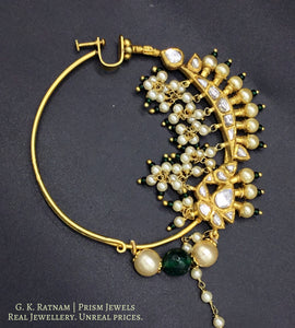 Nose Ring - gold diamond polki kundan meena jadau jewellery